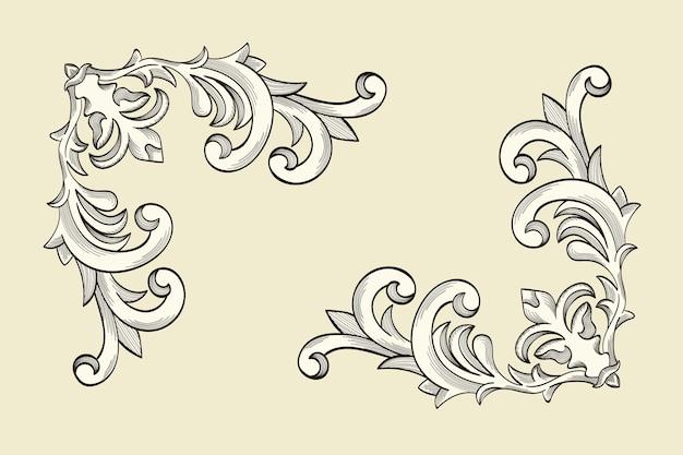 Ornamental border in baroque style Free Vector