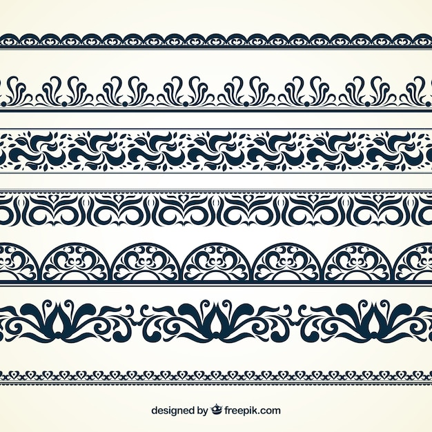 Ornamental Borders Vector Free Download Magnificent Decorative Designs For Borders