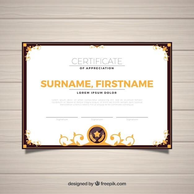 Ornamental Certificate Border Template Vector Free Download