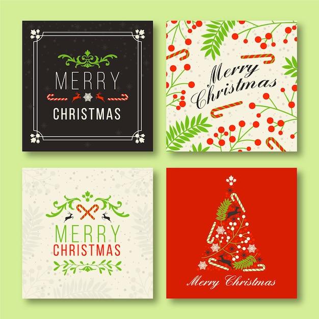 装飾用クリスマスinstagramの投稿テンプレート 無料ベクター