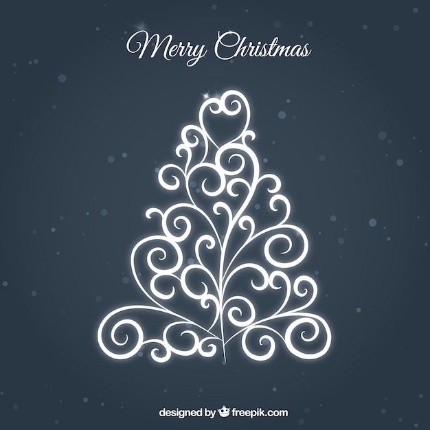 Ornamental christmas tree in white color