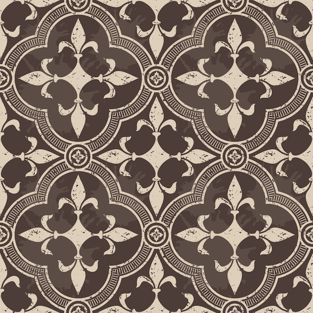 Ornamental damask seamless pattern Free Vector