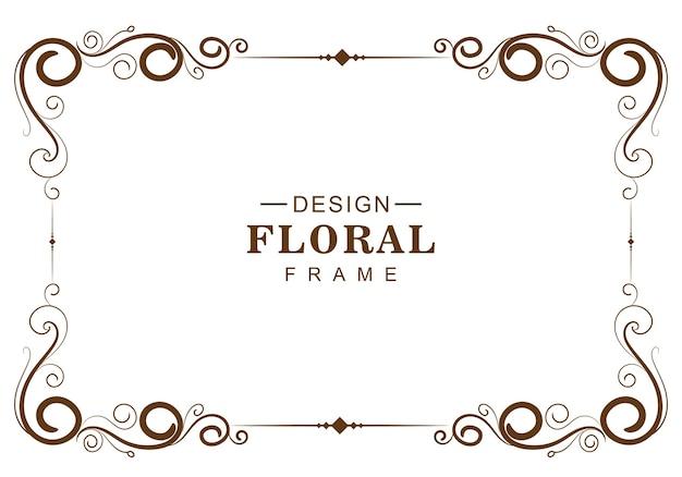 Cornice floreale decorativa ornamentale Vettore gratuito