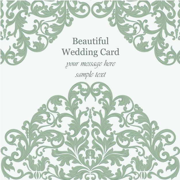 Ornamental design card Free Vector