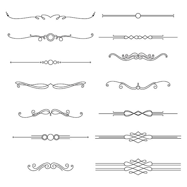 Ornamental divider pack Free Vector