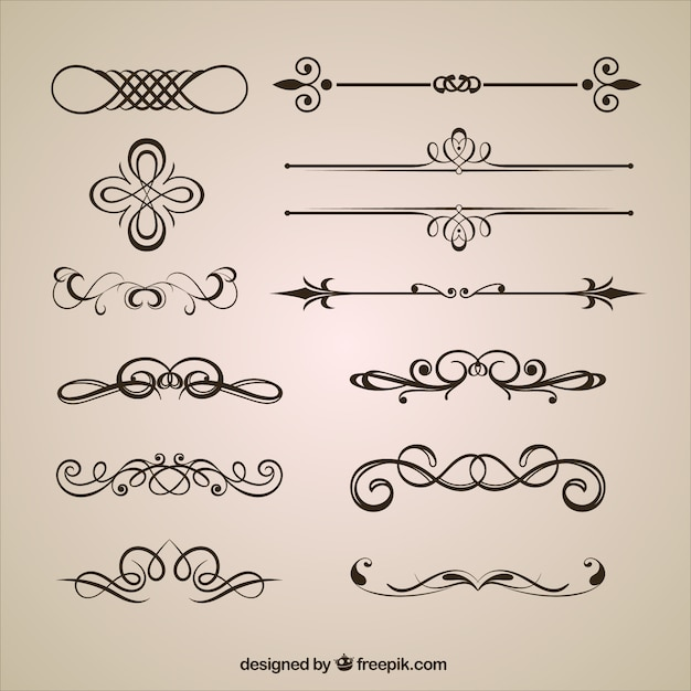 Ornamental dividers vector free download