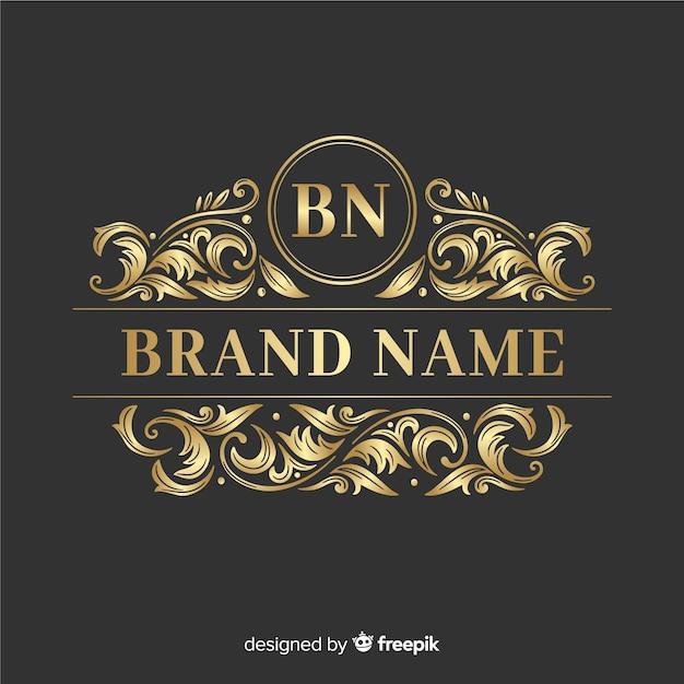 Ornamental elegant logo Free Vector