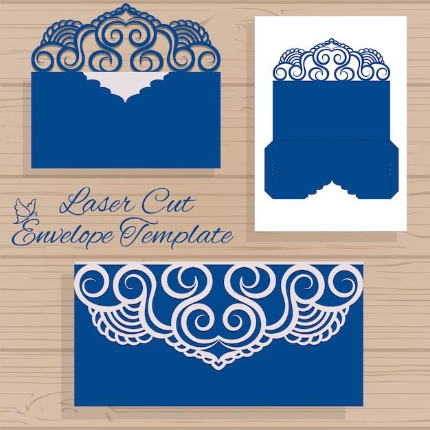 Ornamental Envelope Template Vector