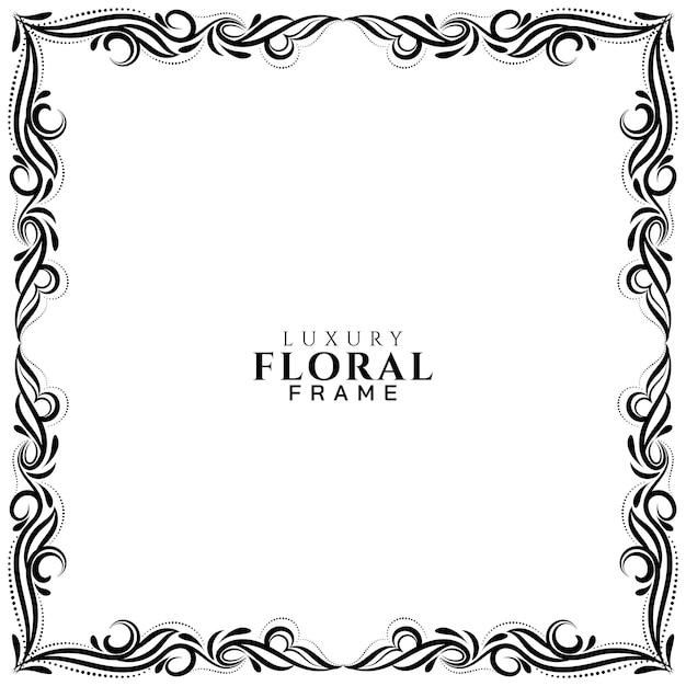 装飾用花フレームデザインの背景 無料ベクター