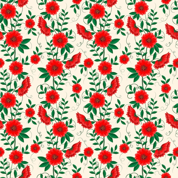 Ornamental floral seamless pattern Free Vector