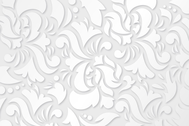 Ornamental flowers background design Free Vector