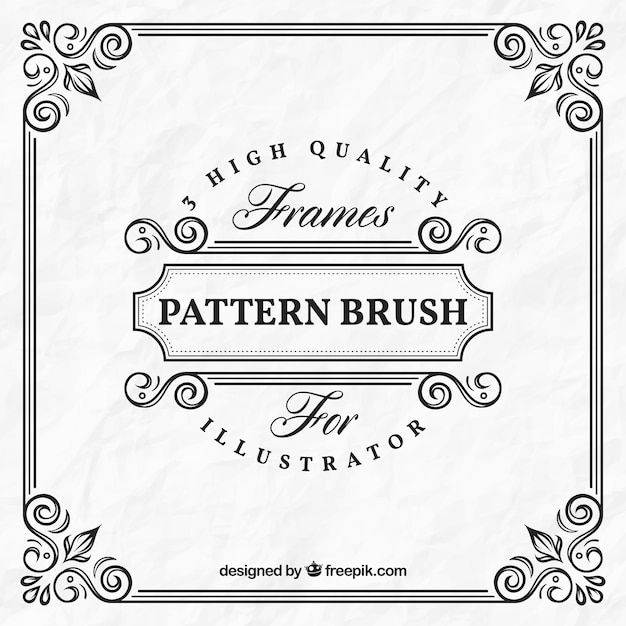 ornamental frame template vector free download