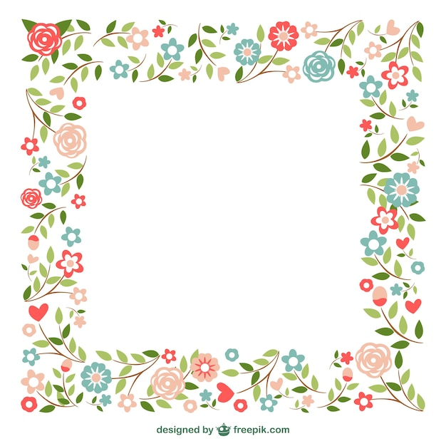 Ornamental frames flowers design Vector | Free Download