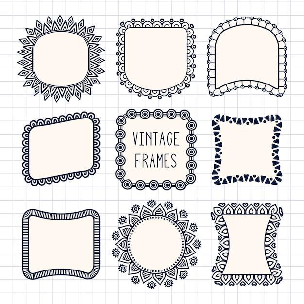 Ornamental frames, vintage style Vector   Free Download