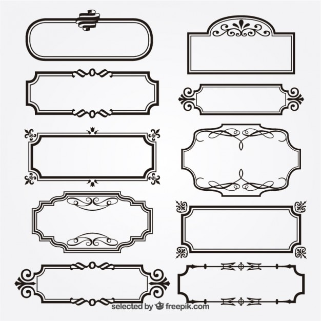 Decorative Text Box Borders Awesome Ornamental Frames Vector  Free Download Decorating Inspiration