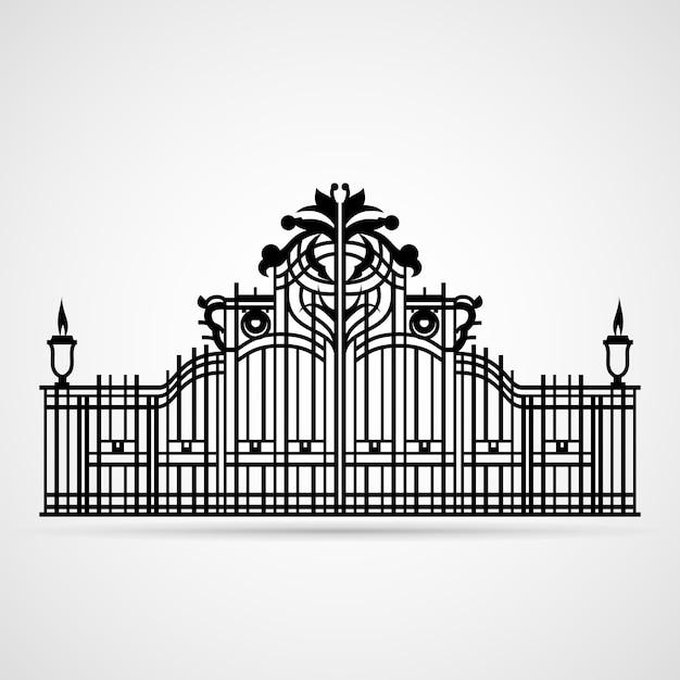 Декоративные ворота изолированные Бесплатные векторы