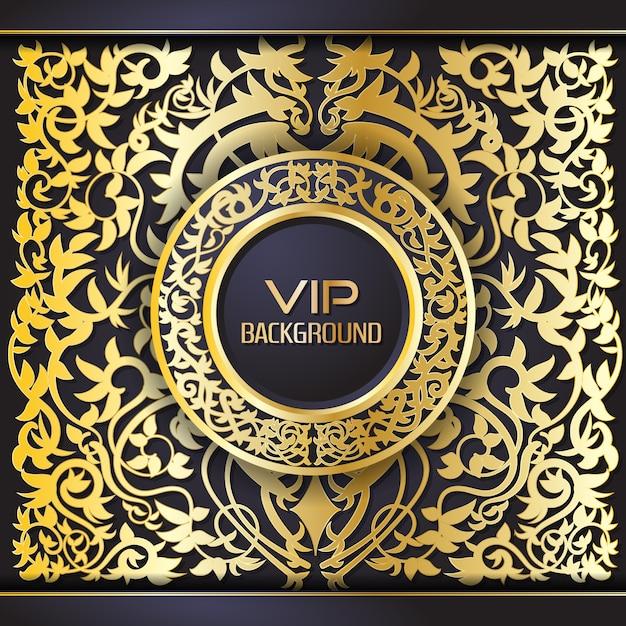 Ornamental golden background Premium Vector
