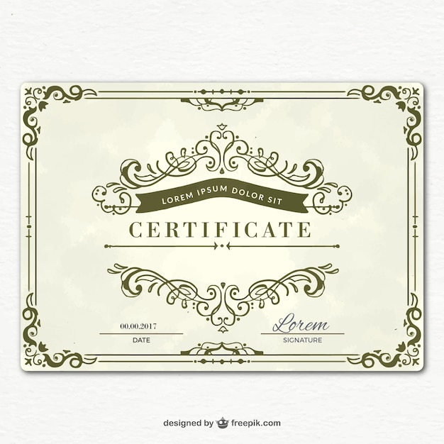 Ornamental Graduation Certificate Template Vector | Free Download