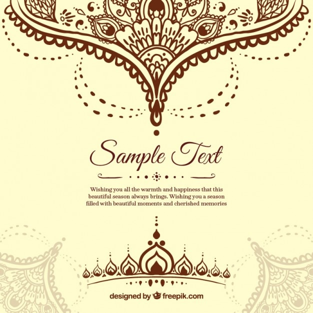 ornamental henna background vector premium download