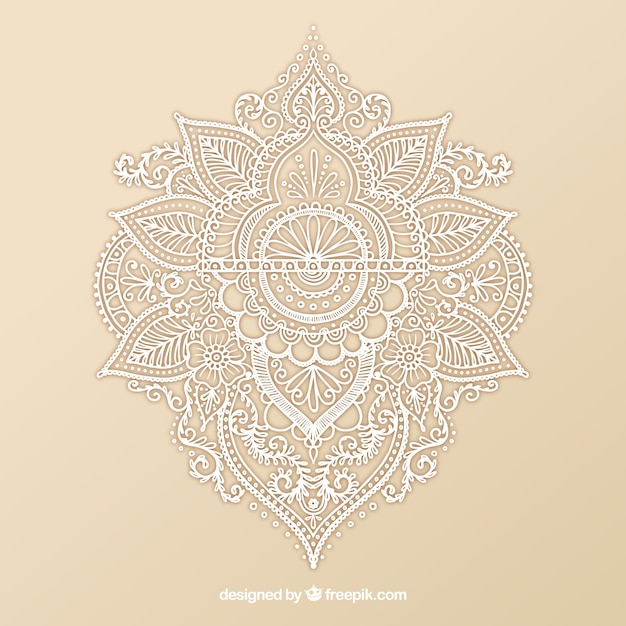 Ornamental Henna Design Vector Free Download