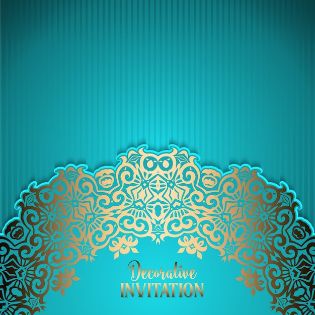 Ornamental invitation background vector free download ornamental invitation background free vector stopboris Images