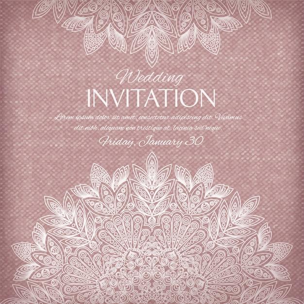 Ornamental invitation silver and pastel colors Free Vector