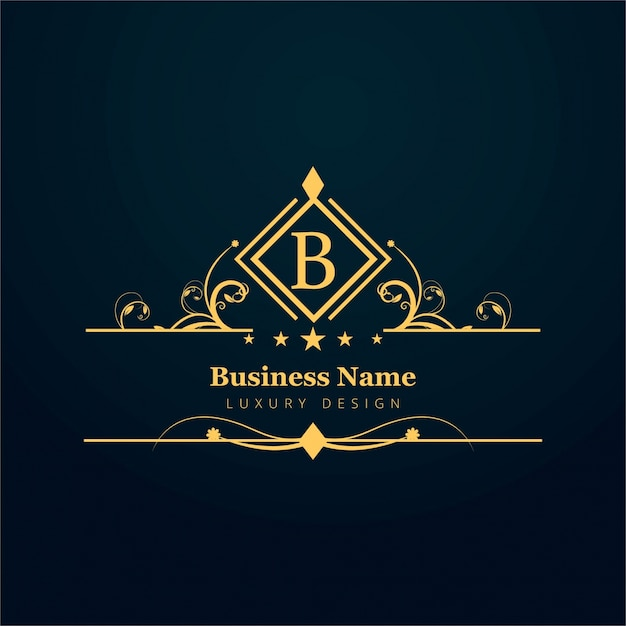 Ornamental letter b logo Free Vector