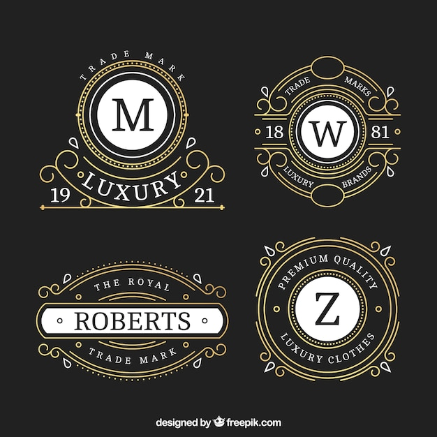 Ornamental Luxury Hotel Logos Vector Free Download