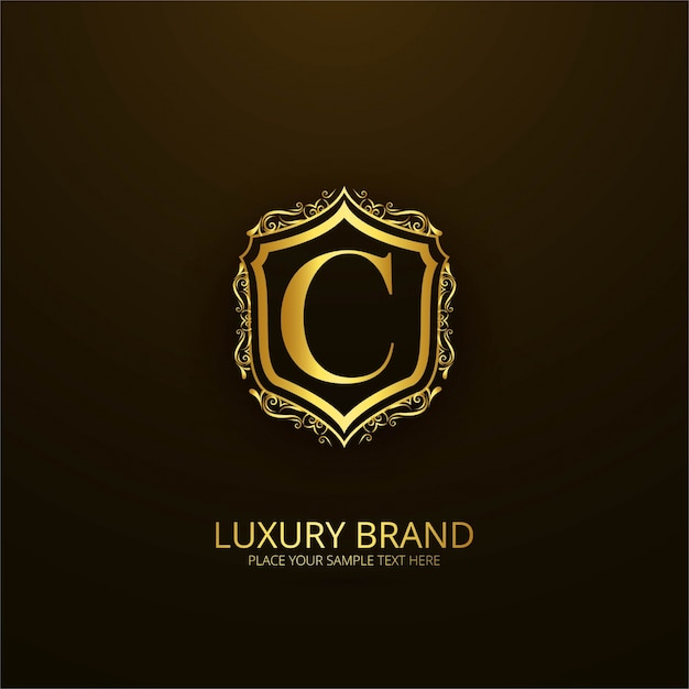 ornamental luxury letter c logo vector free download