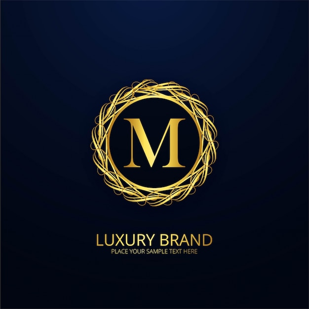 Ornamental Luxury Letter M Logo Vector Free Download