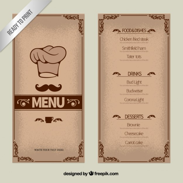 Restaurant Menu Vectors, Photos And Psd Files | Free Download