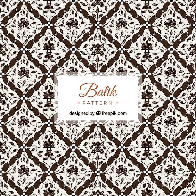 Ornamental Pattern Of Batik Flowers Vector