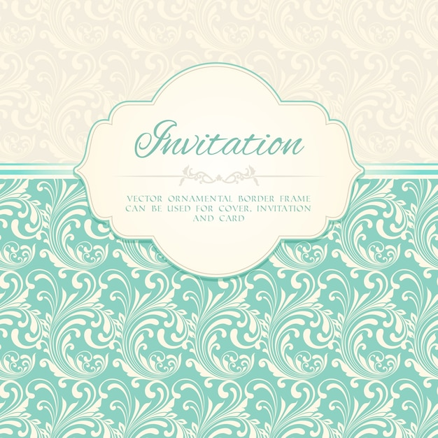 Ornamental pattern invitation card or album cover template vector ornamental pattern invitation card or album cover template vector illustration free vector stopboris Gallery