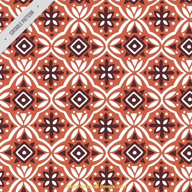 Ornamental Pattern Of Batik Geometric Shapes Vector