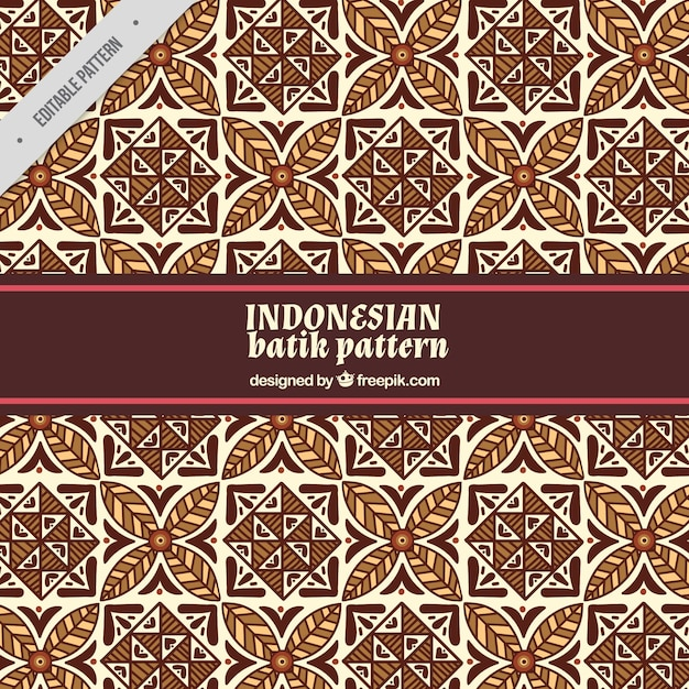 Ornamental Pattern Of Batik Shapes Vector