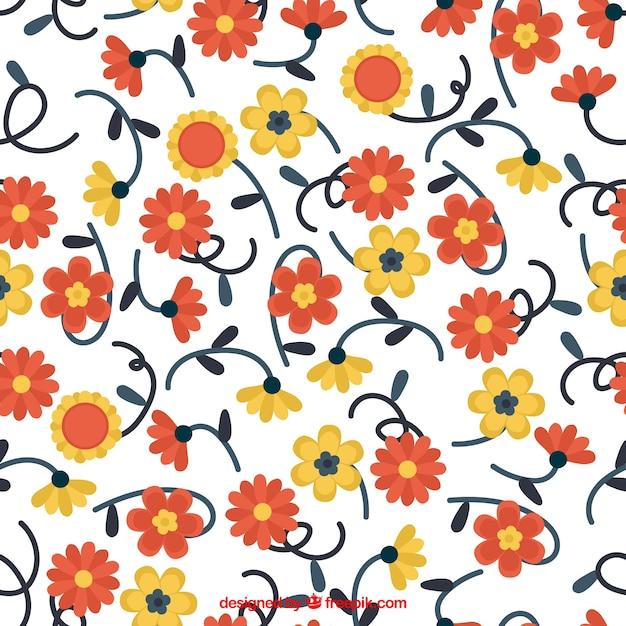 Ornamental pattern of pretty flowers vector free download ornamental pattern of pretty flowers free vector mightylinksfo