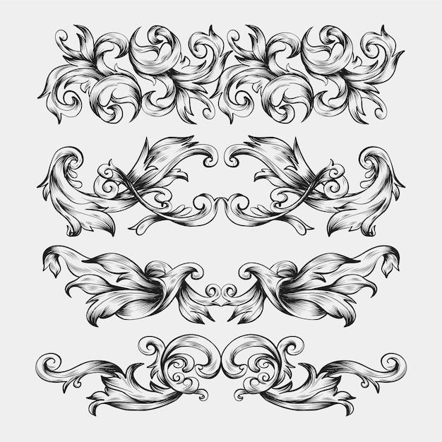 Ornamental realistic hand drawn border Free Vector