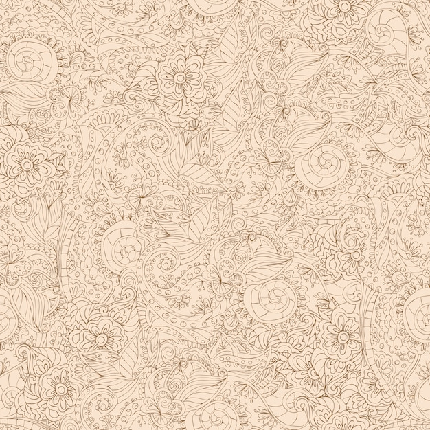 Ornamental seamless pattern Free Vector