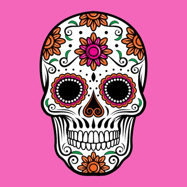 Ornamental sugar skull Premium Vector