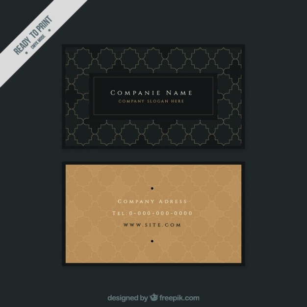 Ornamental vintage business card Vector