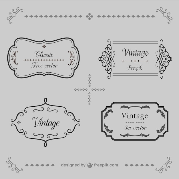 Ornamental vintage frames vector free download