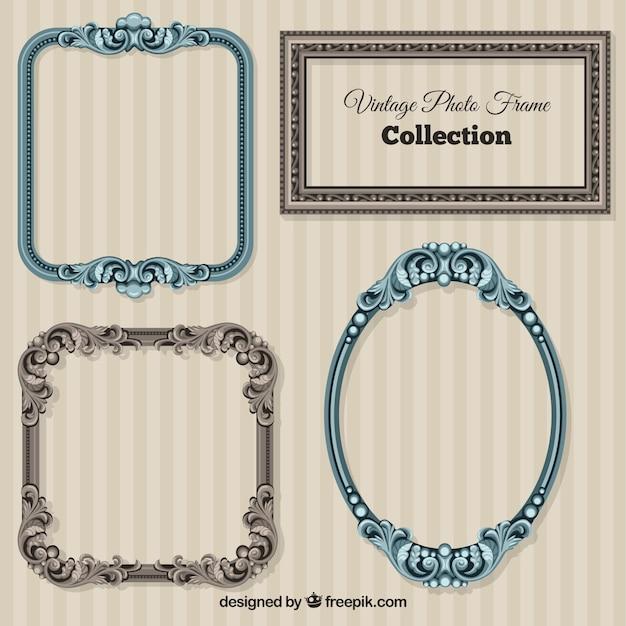 Ornamental vintage frames Vector | Premium Download