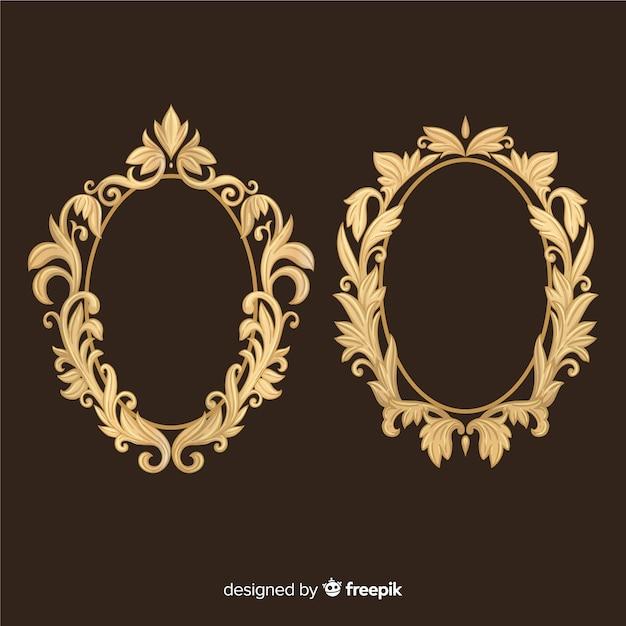 Ornamental vintage logo set Free Vector