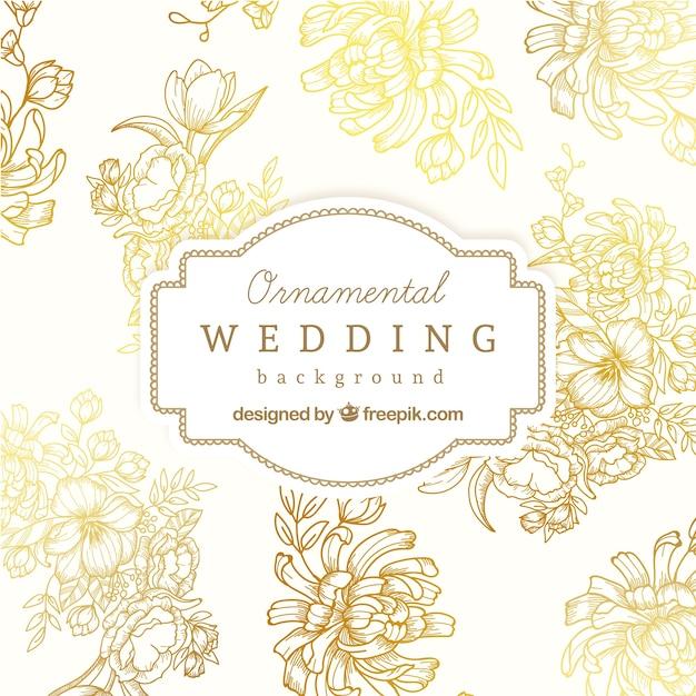 Ornamental wedding background Premium Vector