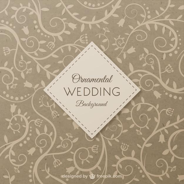 ornamental wedding background vector free download