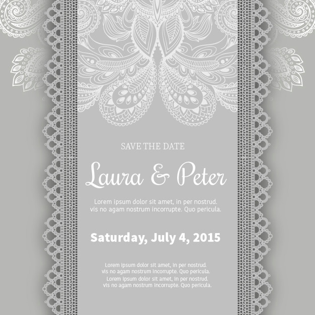Ornamental wedding invitation template vector free download ornamental wedding invitation template free vector stopboris Images