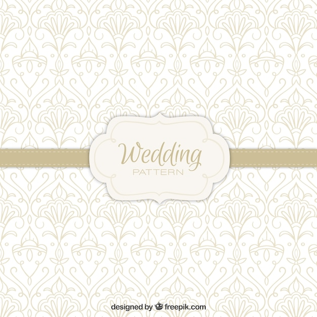 Ornamental wedding pattern Vector | Free Download