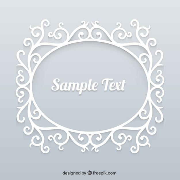 Ornamental white frame