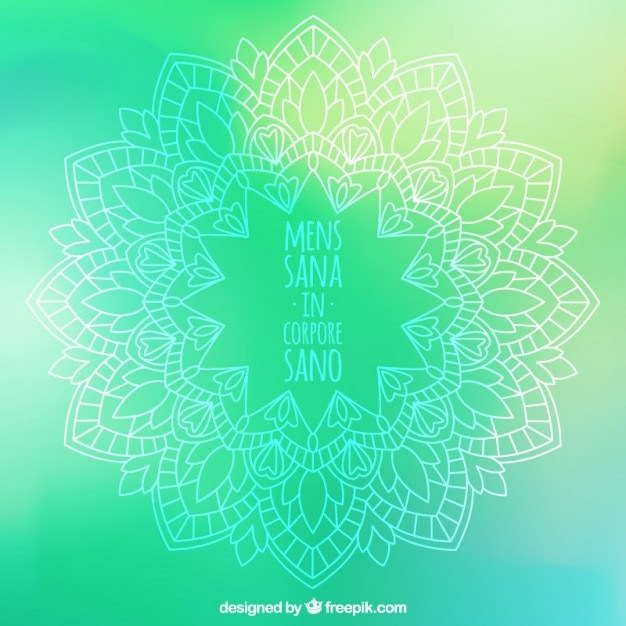 Ornamental yoga element with inspirational\ quote