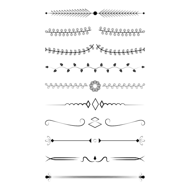 Ornaments collection design concept Free Vector